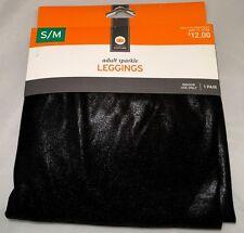 Halloween Black Sparkle Leggings (Shimmer Look) 1 Pair Womens size S/M  NWT