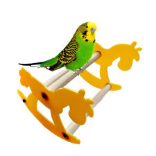 Wooden Play Stand Perch Gym Parrot Bird Cages Toy Cockatiels Parakeet Seesaw