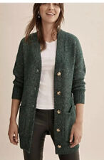Country Road Ladies OVERSIZED POCKET CARDIGAN Sz M Green W2020 Current Season.