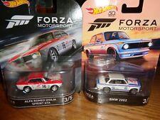 hot wheels forza bmw 2002 & alfa romeo giulia sprint gta