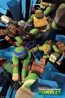 TEENAGE MUTANT NINJA TURTLES ~ SMASH BRICKS 22x34 CARTOON POSTER Nickelodeon