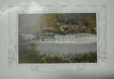ARTE PAESAGGISTICA_'800-'900_SOLDINI_BAITE ALPINE_ANTICA STAMPA A COLORI_D'EPOCA