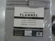 Member's Mark 100% Cotton Flannel Sheet Set Full Size Light Gray