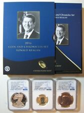 2016 US Mint Reagan Coin & Chronicles Set w/ NGC Graded ** FREE U.S. SHIPPING **