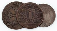 1791-1814 Swiss Cantons Coin Lot (3pcs) 4 Kreuzer to 1 Batzen (VF)