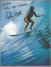 "Holly Beck, Professional Surfer, Signed 8 1/2"" X 11"" Color Photo Coa Uacc Rd 036"
