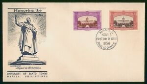 Mayfairstamps Philippines FDC 1956 University Santo Tomas Archbishop Statue Firs