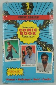 Famous Comic Book Creators: Official Trading Cards SEALED BOX Eclipse McFarlane