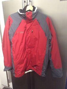 Columbia Vertex Interchange Core 3 in 1 Full Zip Fleece & Jacket Mens Size L