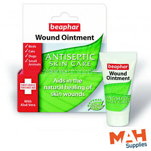 Beaphar Wound Ointment Antiseptic Skin Care for Dogs Cats Small Animals & Birds