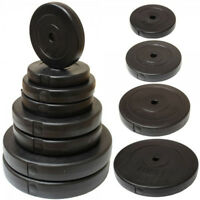 """Vinyl Weight Plate Disc 1"""" For Dumbbells & Weight Lifting Bars Fitness Workout"""