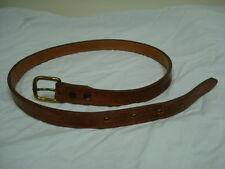 Genuine Lizard Nocona Boot Company Belt, Size 28  in Rich Dark Brown Color