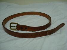Genuine Lizard Nocona Boot Company Belt, Size 28  in Rich Dark Brown Color