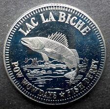 "CANADIAN TRADE DOLLAR ""LAC LA BICHE"" 1981 THE BLUE HERON PO WOW FISH DERBY"