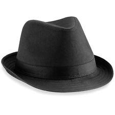 CHAPEAU Mixte FEDORA marque Beechfield NOIR Taille S/M et L/XL hat