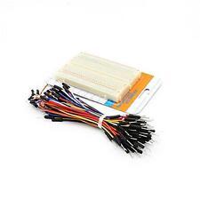 Mini Bread Board-white Test Board w/60~65 Cables for Arduino DIY Project TZ S8Z2