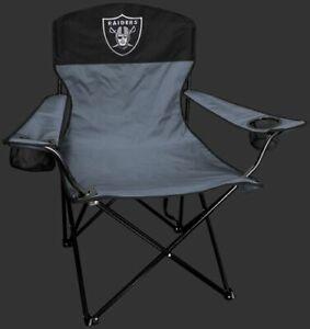 LAS VEGAS RAIDERS LINEMAN Quad Folding Chair [NEW] NFL Travel Tailgate