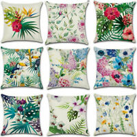 Plant Animals Cotton Linen Pillow Case Sofa Car Throw Cushion Cover Home Decor