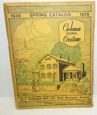 1939 H.T. Cushman Furniture Catalog Colonial Creations, 85 pages