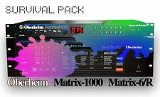 *** OBERHEIM MATRIX-1000/MATRIX-6 Survival Pack - NEW STUDIO PATCHES / SOUNDS