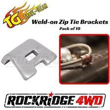 Trail Gear Weld-on Zip Tie Brackets Flanged 10 pack 12 GA formed tab SAE 1008 St