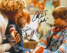 CHUCKY CHILD'S PLAY PHOTO SIGNED BY 3! Ed Gale, Catherine Hicks and Alex Vincent