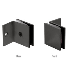 CRL Black Fixed Panel Square Clamp With Small Leg