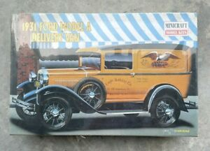 Minicraft Model Kit 1931 Ford Model A Delivery Van 1/16th Scale *Sealed