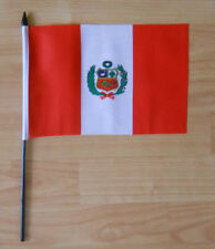 Peru Country Hand Flag - medium