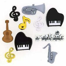 Jesse James Buttons - Dress It Up  ~ Music 340 ~ Piano ~ Music Notes Instruments