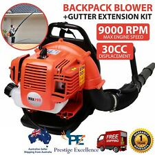 30CC Backpack Petrol Leaf Blower with Gutter Extension Kit Commercial Power Tool