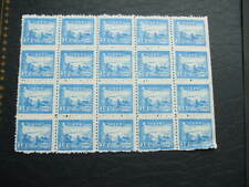 China-East Train & Postal Worker 1949 Block Of 20 New-Blue $18 Mint Stamps