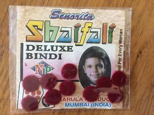 Pack of 10 Red Bindi, Purchased In Mumbai
