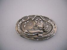 """WOMENS 3.75"""" X 2.5"""" COWBOY BOOT WESTERN  BELT BUCKLE WITH A SPUR MADE IN USA"""
