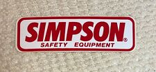 247A Simpson Safety Equipment Original Vintage 1970's 80's Racing Decal Sticker