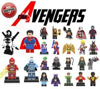 Lego DC Mini Figures Toys Avengers Justice Batman Flash Superhero Building Block