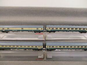 Fleischmann N 8192 Personenwagen-Set 4-teilig IC-Schnellzugwagen DB in OVP Q185