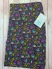 NWT LuLaRoe 2XL CASSIE Skirt Solod Black Purple Mint Cream Yellow Floral NEW!