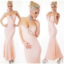 Noble Full-Length Mermaid Strap Dress off Peak Pink #AK1253
