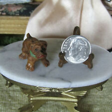 Antique Vtg Miniature CARVED WOOD PUG DOG Puppy Figurine Dollhouse Animal 1:24?