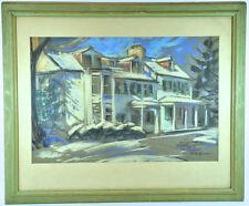 Vintage 1945 Original Pastel Painting by T. Scott Offutt Jr. Baltimore Artist