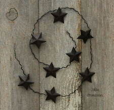 "33"" Barn Star GARLAND ~ Primtive Rusty Tin Look"