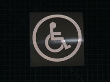 2  DISABLED  SIGN  sticker  decal window car laptop