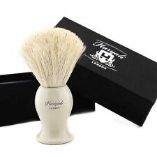 White Badger Shaving Brush 100% Natural High Quality Bristles Men's Beard Care