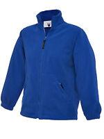 CHILDRENS FULL ZIP MICRO FLEECE JACKET Kids School Coat Boys Girls Cardigan TOP