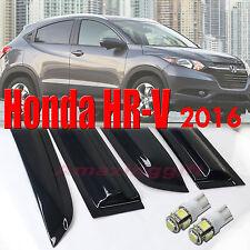Honda HRV 2016 and Up Smoke Deflector Side Window Vent Visor Rain Guard +T10 LED