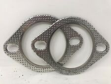 "CarXX 2-Bolt 3"" High Temperature Exhaust Gasket ID 78mm 3 Inch 178112 PACK OF 2"