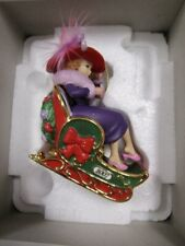 "Danbury Mint "" Red Hat Society "" Ornament # 2 In Box"