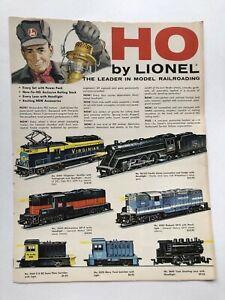 1958 Lionel Train Catalog Scale HO Foldout Brochure/ Catalog     X