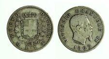 pcc1834_9) Regno Vittorio Emanuele II - 1 lira stemma 1863 Mi